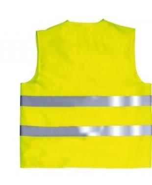 gilet jaune ou de sécurité à personnaliser dans le dos selons vos besoins avec textenphoto ou logo sur sublimatex