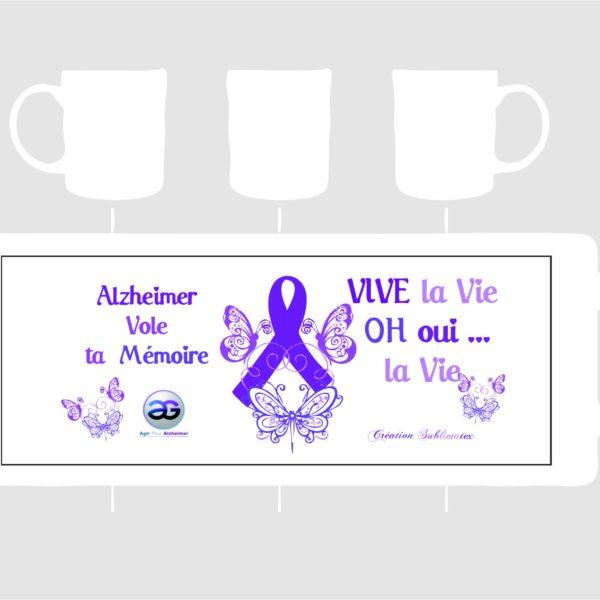 mug porcelaine Alzheimer vole ta mémoire vendu au profit d'agir pour alzhzimer