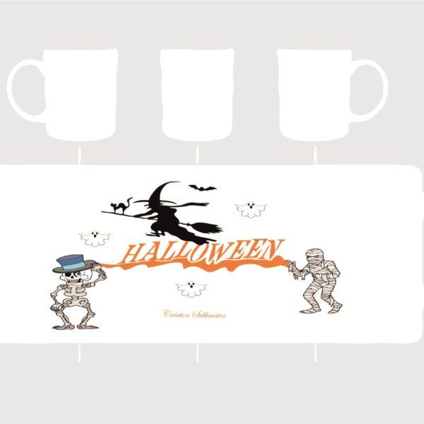 mug Halloween ,squelette