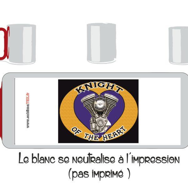 mug inox avec le logo du club de motard des knight of the heartsitué à bollène en vente sur sublimatex