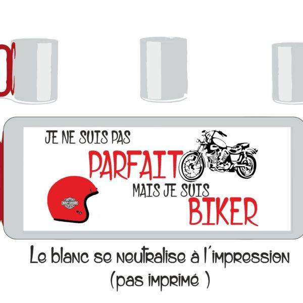 mug inox déja personnalisé je ne suis pas parfait mais je suis biker en vente sur sublimatex