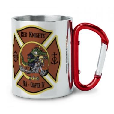 mug inox avec le logo des red knight chapter IV france association ancien pompier motard situé à Uchaud dans le Gard en vente sur sublimatex