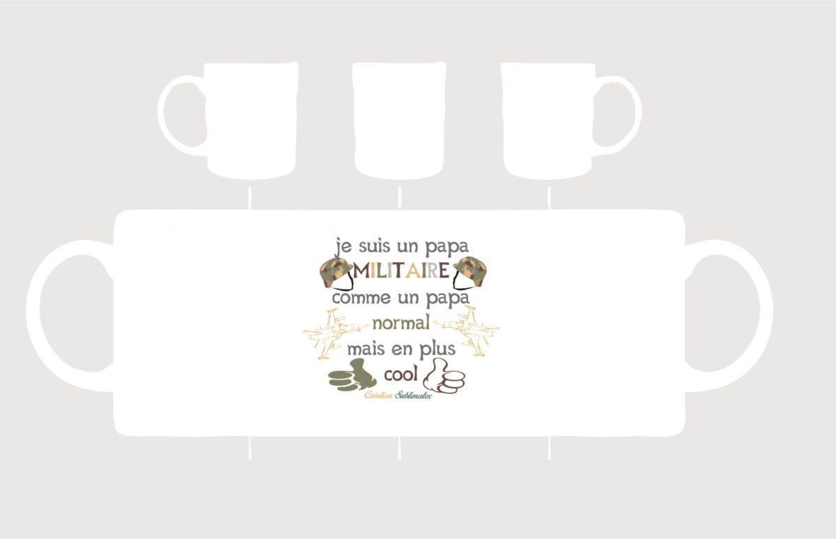 mug porcelaine papa militaire en vente sur subliamtex