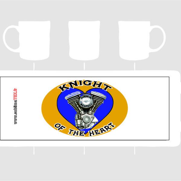 mug logo knight of the heart club situé à bollène vendue sur sublimatex au profit de la sclèrose en plaques