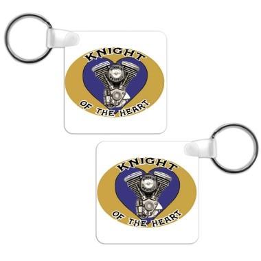 porte clé au logo du club de motard knight of the heart situé à bollène en vente sur sublimatex