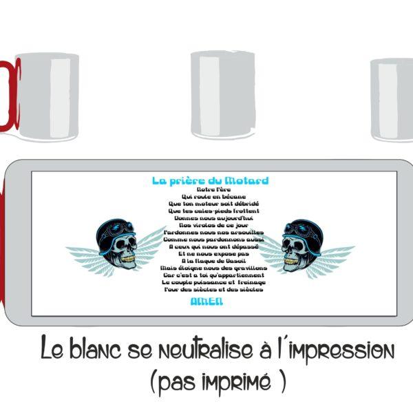 mug inox personnalisé avec le prière du motard en vente sur sublimatex