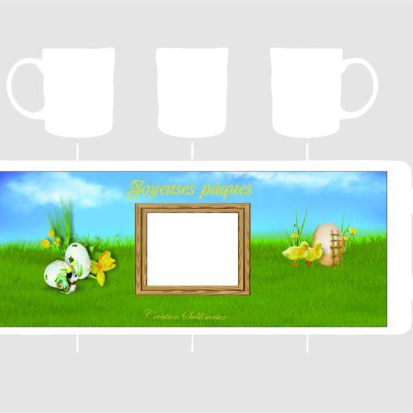 """patron de mug à finir de personnalmiser avec une photo pour pâques c""""'est une création sublimaetx"""