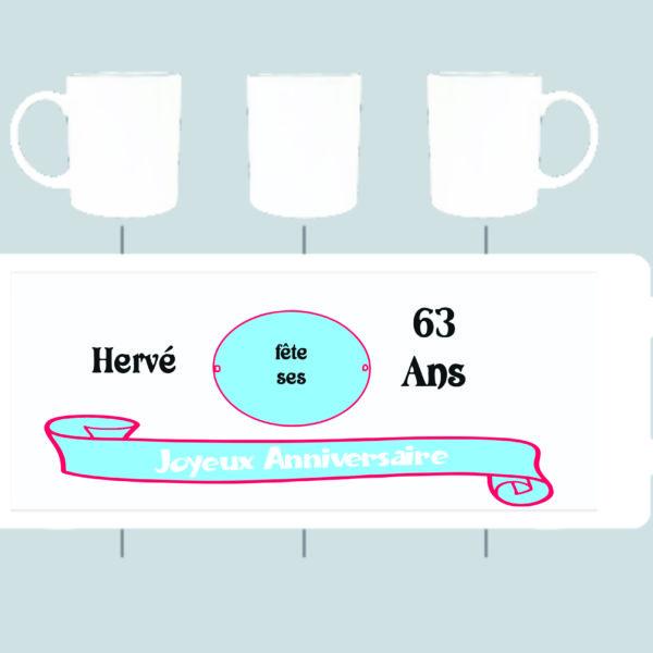 modèle du mug anniversiare personnalisé