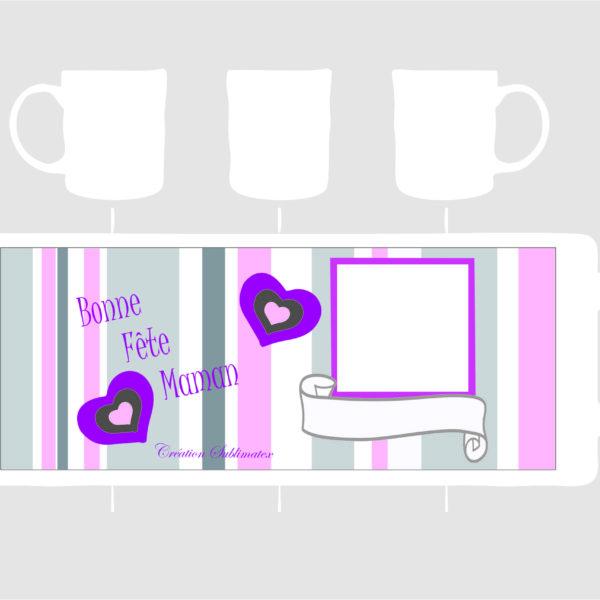 mug porcelaine à personnaliser avec une photo pour la fêt des mères une création subliametx