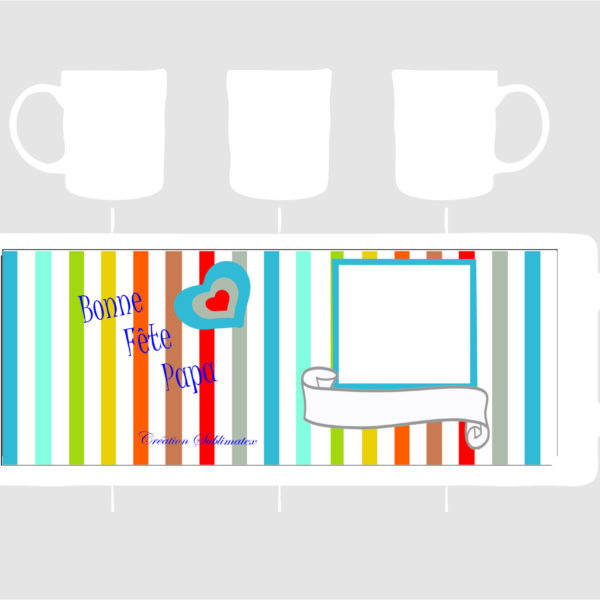 mug poecelaine à personnaliser avec un montage photo pour la fêtes des pères une création subliamtex