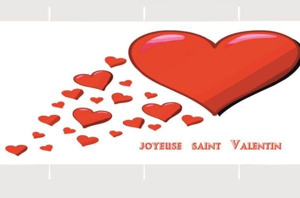un mug en porcelaine joyeuse Saint Valentin création sublimatex