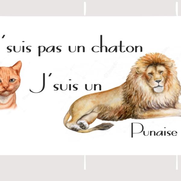 mug j'suis pas un chatopn mais un lion
